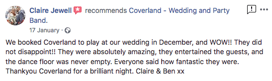 coverland wedding band recommendation