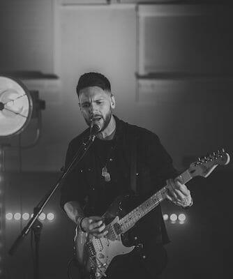 alex black and white wedding band guitar