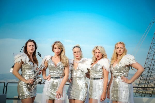 Female fronted band Girls International providing the best corporate party entertainment
