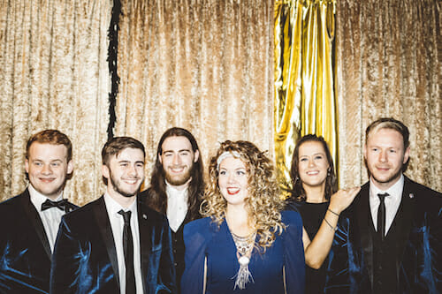 Wedding and function bands Velvet Soul at a promotional shoot in Cardiff