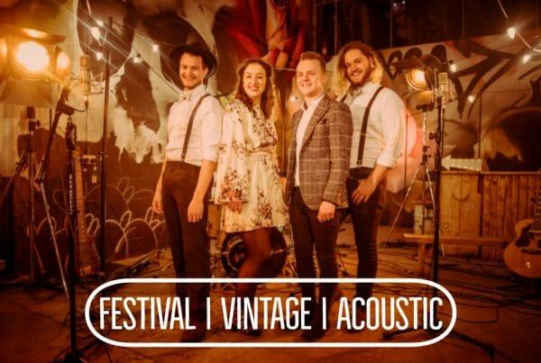 Festival Vintage Acoustic Wedding Band Wales
