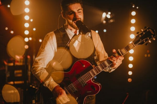 Festival Wedding Band member Alun performing with The Wilderness