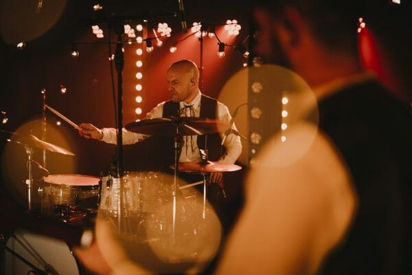 The Wilderness drummer at a South Wales Wedding