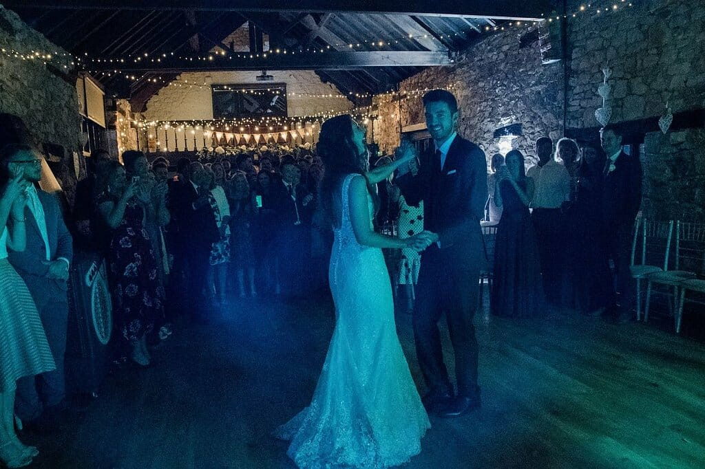 iRock weddubg band performing a first dance at a wedding in south wales