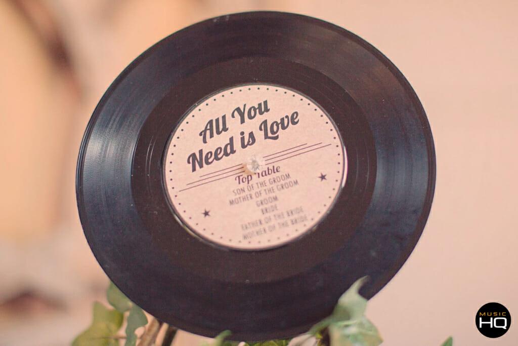 Beatles theme wedding