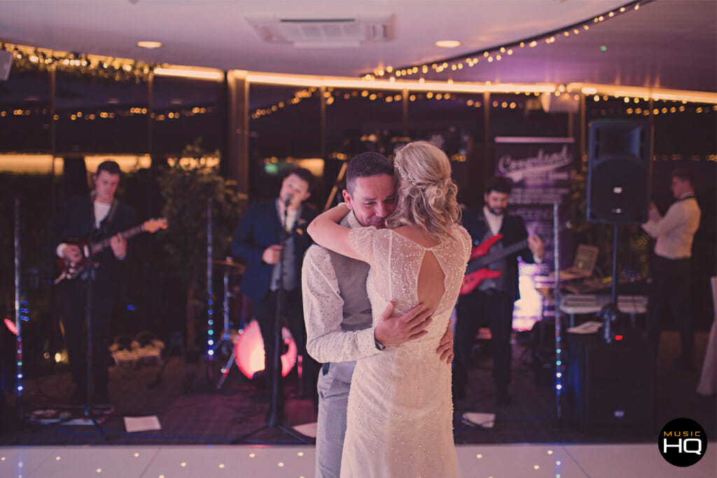South Wales Wedding band Coverland performing a first dance
