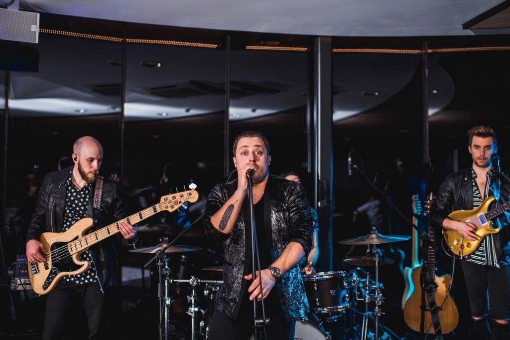 indie rock wedding band iRock performing at Fairyhill