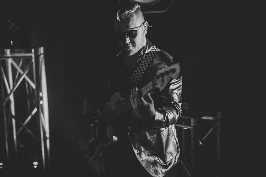 Carwyn Jones performing with soul band Velvet Soul