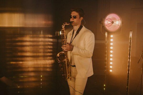 olly wedding saxophonist