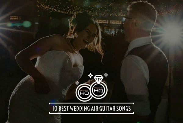 air guitar at weddings